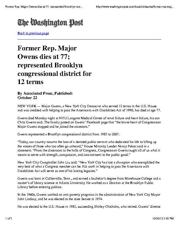 Major Owens obit The Washington Post.pdf