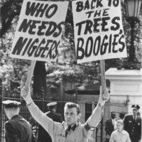 photo of Nazi Party member at Brooklyn CORE's Washington, DC demonstration