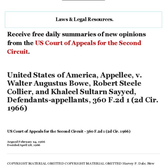 United States of America, Appellee, v. Walter Augustus Bowe, Robert Steele Collier, and Khaleel Sultarn Sayyed, Defend.pdf